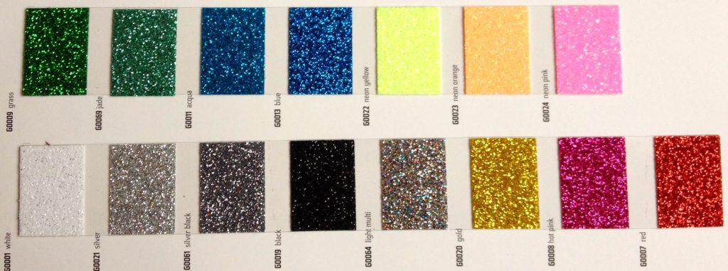další možnosti glitrových barev